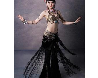 Belly Dance Costume 2 Pics Bra&skirt 34b/c 36b/c 38b/c Xl/bra D Cup