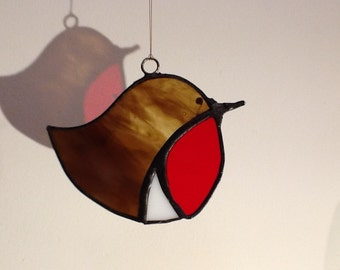 Stained glass Robin,