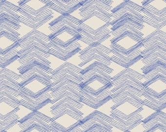 SALE: Limestone Feel, Indigo, by Leah Duncan for Art Gallery Fabric
