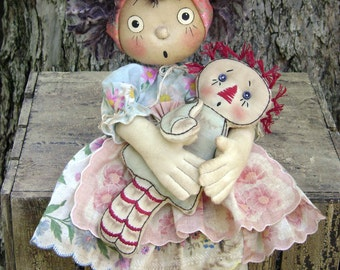CF256 My Doll's Dolly Cloth Doll Sewing ePattern
