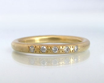 Stackable Gold Rings, Stackable Diamond Rings, Stackable Mothers Ring, Stackable Birthstone Ring, Diamond Birthstone Ring, Simple Gold Band