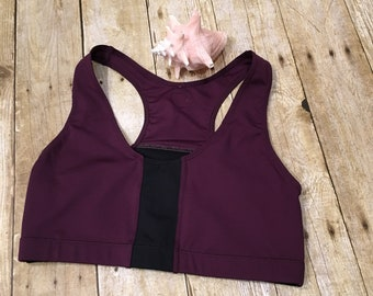 Plum & Black accent top