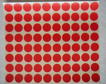 STICKERS pastilles red to create and decorate the beautiful masterpiece