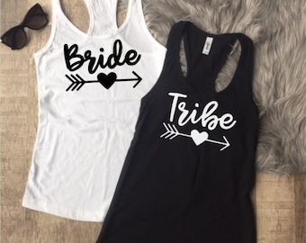 Bride Tribe Tank Tops - Bachelorette Party Tank tops - Bridal Party Shirts - Bride Tank Top - Tribe Tank top - Bridal Party Tank Tops