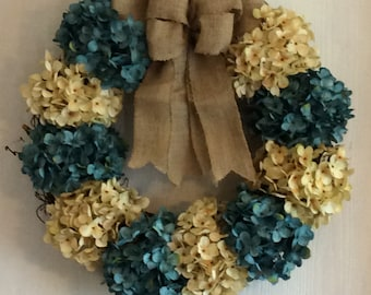 Spring wreath, Burlap wreath, Mother's Day Wreath, Grapevine Wreath