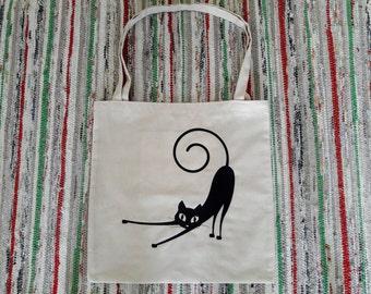 Sac cabas chat sac fait à la main