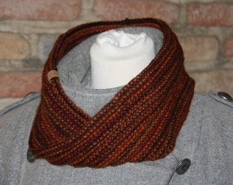 Moebius Cowl red/orange/black