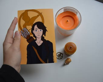 Katniss Everdeen painting