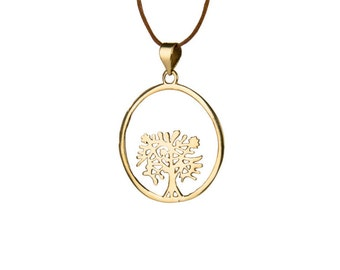 Tree of Life Circle Pendant On Adjustable Cord Necklace Spiritual jewellery Yogi Jewellery  Handmade Free UK delivery CH2