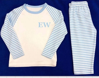 EMBROIDED stripes pyjamas with inititals!!