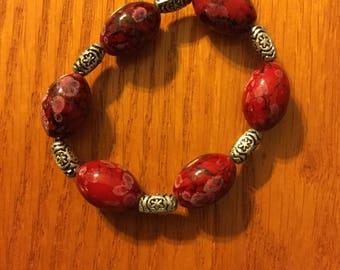 Black Friday Sale R.I.O.T. Red & Silver Bracelet