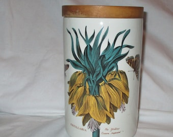 Portmeirion Botanical Gardens Yellow Crown Imperial Canister