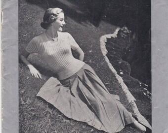 ON SALE Vintage 1940s - Paton's Knitting Pattern No 293 For Women/Ladies - Original Pattern