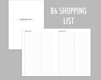 B6 TN Shopping List