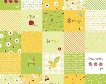 Sweet Orchard Main Green yardage by Down Grapevine Lane for Riley Blake