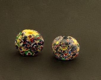 V66- 2 End of the Day Venetian tabular beads