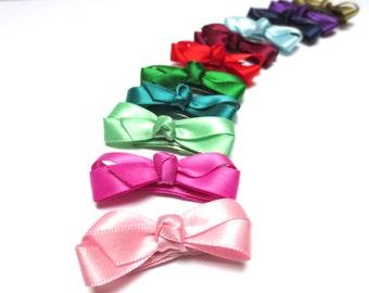 Satin Hair Bow, Baby Hair Bows, Baby Fine Hair Clips, Toddler Hair Bows, Hair Bows for Girls, Baby Bows, Hair Bows, Newborn Hair Clips, Bows