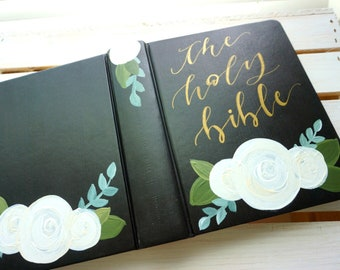 """Hand-Painted Bible // """"Magdalene"""" Design (PRE-MADE)"""