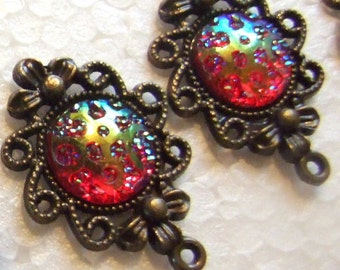 Art Deco Steampunk Color Changing Drop Earrings!