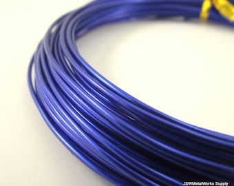 Blue Anodized Aluminum Wire, 14 gauge, 45 foot coil
