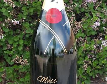 Engraved Champagne Bottle