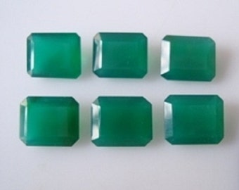 Natural Green Onyx Faceted cut octagon top quality green onyx gemstone 6x4, 7x5, 8x6, 9x7, 10x8, 11x9, 12x10, 14x10, 16x12mm octagon onyx
