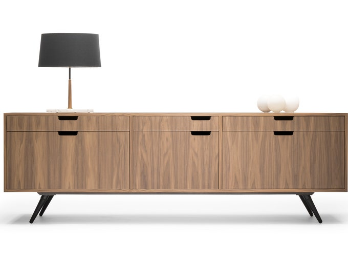 Filing Cabinet / File credenza / Sideboard / cupboard / in solid or veneer board oak / walnut.