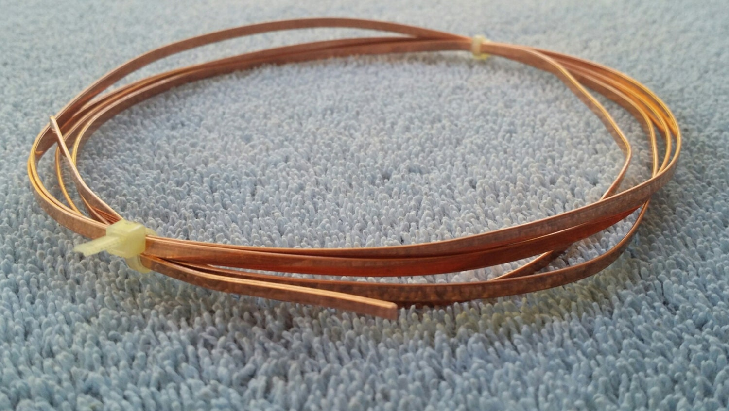 Flat Copper Wire 3mm X 0.75mm Five Feet Long from RodsRingsAndThings ...