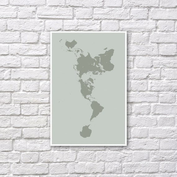 Buckminster fuller dymaxion map poster dymaxion map like this item gumiabroncs Choice Image