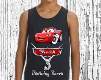 Disney Cars Birthday Shirt - Cars Birthday Shirt - Tank Top Available