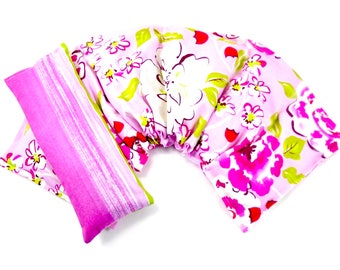 Neck Wrap Extra Wide/Eye Pillow Set, Hot Cold Therapy, , Microwavable,Heat Pack,Heating Pad Gift Idea