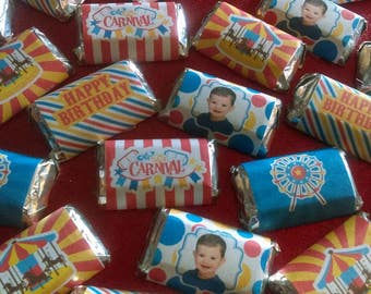 Circus Miniature Candy Bar Wrappers