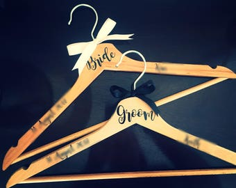 Bride & Groom Hanger | Wedding Dress Hanger| Wedding Gift Idea | Bridal Hanger | Pretty Little Pressies | Clothes Hanger | Groom Hanger