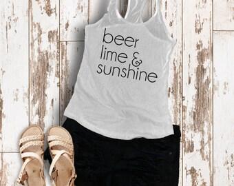 Beer, Lime, & Sunshine Tank