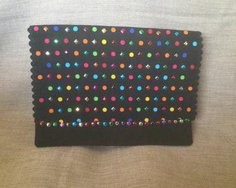 Multicolored flap pocket