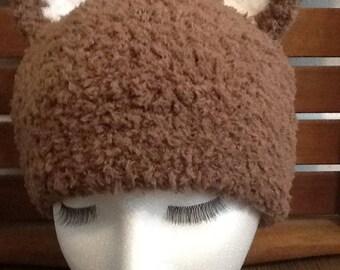 Brown Bear ear hat teen/adult