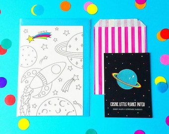 Cosmic Colour In Greeting Card
