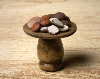 Miniature Wooden Stand with Gingerbread