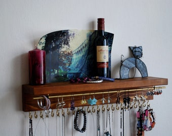 With Shelf ,Jewelry Organizer With Shelf, Necklace Holder, Bracelet and Earring Holder