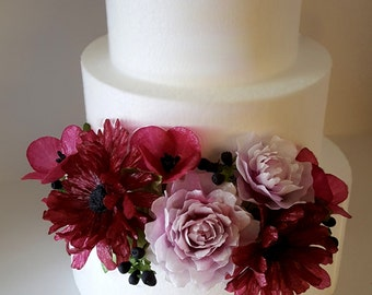 Wafer paper flower etsy edible wafer paper flower arrangements for cakes by lynda christine mightylinksfo