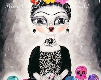Frida Day of the Dead PRINT