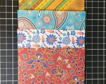 Small Batik Envelopes - Set of 8 - Oriental Pattern