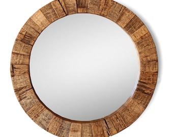 The Collier Round Wood Mirror