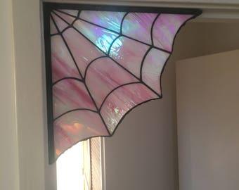 Spider Web Corner Hanging / Stained Glass Corner