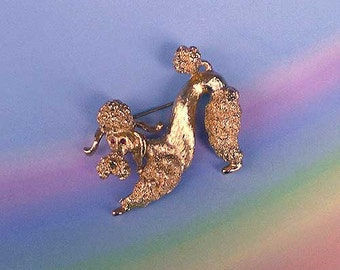 Vintage 60s Monet Figural Poodle Pin