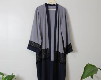 Grau/blau Kimono, Abaya, ModestAbaya, Maxi Abaya, ModernAbaya