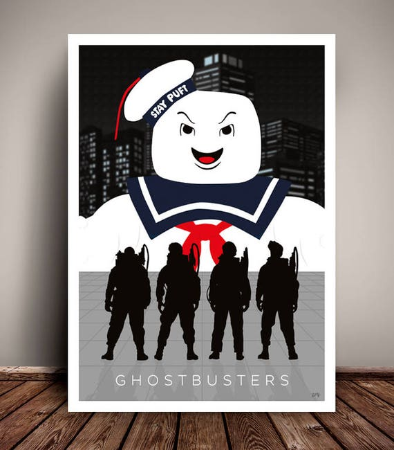 Ghostbusters // Minimalist Movie Poster // Unique Art Print // Available in 5 Sizes