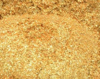 24K Gold Mica Sparkly Golden Sparkle 24 Karat Golds Pigment Powder Cosmetic Shimmer