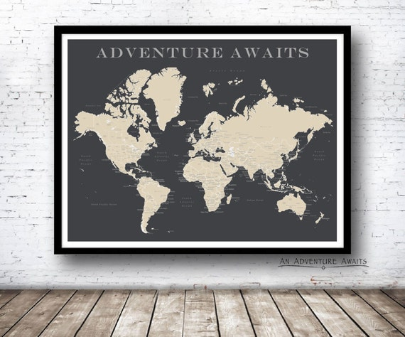 World push pin map print only travel map map poster world push pin map print only travel map map poster travel board wedding anniversary gift world 001 gumiabroncs Image collections