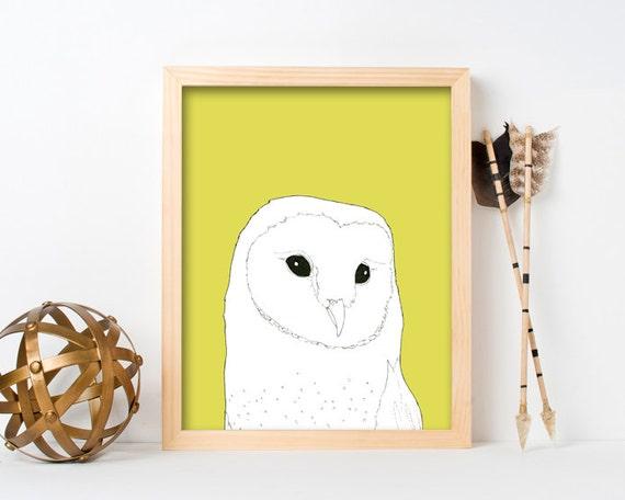 """framed wall art, framed art prints, large framed art, large framed wall art, wall art prints, colorful, owl art prints, owl art - """"Barn Owl"""""""